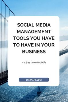 These social media management tools will help you curate content, create visuals, schedule posts, and analyze your results. Facebook Marketing, Business Marketing, Social Media Marketing, Online Business, Digital Marketing, Content Marketing, Online Marketing, Social Media Management Tools, Business Management