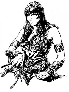 Xena and gabrielle sketch by on Xena coloring book