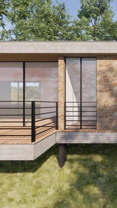 Building A Wooden House, Building A Cabin, Courtyard House Plans, Backyard House, Tree House Plans, Best House Plans, Small House Interior Design, House Design, House Bali