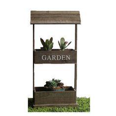 Θήκη για γλάστρες ξύλινο σκεπαστό διπλό Garden  Διάσταση: 42x23x83cm