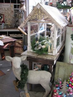 Maison Douce: Christmas at Monticello Window Greenhouse, Small Greenhouse, Greenhouse Plans, Window Shutter Crafts, Old Window Shutters, Country Christmas Decorations, Christmas Crafts, Christmas Décor, Christmas Ideas
