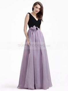 V Neck Prom Dress in Organza #FreeShipping at #TopWedding