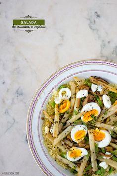 Salada de couscous e vegetais
