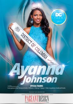 #AWESOMEpageantAD designed for Ayanna Johnson for the official 2016 MISS UNITED STATES Program Book | GET IN TOUCH if you need an awesome-looking, professionally-designed ad page! | #PageantDesign Graphic design solutions for all your pageantry needs! | For samples, check out: www.pageantdesign... and like us on facebook: www.facebook.com/... | ALL STATES, ALL AGES, ALL PAGEANTS SYSTEMS WELCOME! #PageantAds #AWESOMEpageantADS
