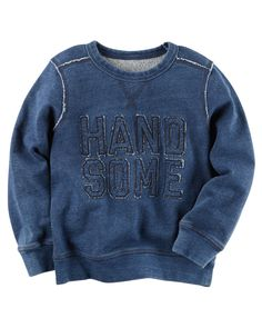 Toddler Boy Handsome French Terry Pullover from Carters.com. Shop clothing & accessories from a trusted name in kids, toddlers, and baby clothes.