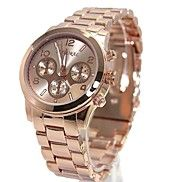 ROSE GOLD TONE FASHION WATCHES: This big dial bracelet watch with beautiful gold dial is ideal for men and women. Wear your style and attitude with this smart fashion watch for women and men. Cheap Watches For Men, Big Watches, Ladies Watches, Skeleton Watches, Rose Gold, Elegant Watches, Metal Bands, Quartz Watch, Fashion Watches
