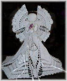Free Crochet Cotton Christmas Patterns : 1000+ images about crochet angels on Pinterest Crochet ...