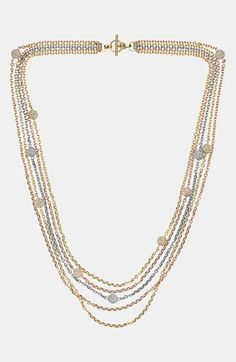 Michael Kors 'Fireball' Station Multistrand Necklace available at #Nordstrom