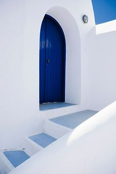 Door Detail - Thira, Santorini, Greece
