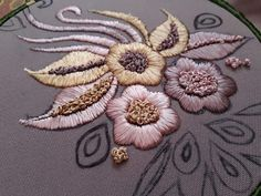 Hand Embroidery, Embroidery Designs, Velvet Evening Gown, Blouse Neck Designs, Hobbies And Crafts, Flower Patterns, Ramadan, Stitches, Brooch
