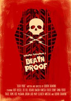 Death Proof by Joel Amat Güell - Graphic Design - Cinema, film - Minimal movie poster