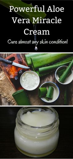 Aloe vera can be applied topically for the healing of burns, wounds and other skin conditions. Today we are going to share with you a step-by-step tutorial on how to make an all-purpose Aloe Vera skin cream mehr zum Selbermachen auf Interessante-dinge. Aloe Vera Gel, Aloe Vera For Skin, Natural Aloe Vera, Natural Herbs, Aloe Vera Mask, Homemade Skin Care, Diy Skin Care, Skin Care Tips, Organic Skin Care