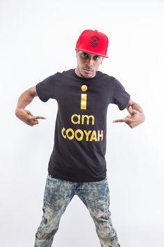 I am Cooyah t-shirt $20 at cooyah.com  #dancehall #menswear #fashion