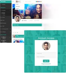 social network profile template - lumino bootstrap 3 admin and dashboard template admin