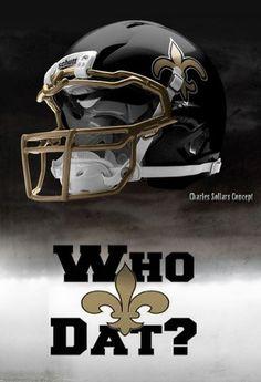 New Orleans Saints helmet concept New Nfl Helmets, Cool Football Helmets, Nfl Football, Football Images, Football Design, Nfl Saints, New Orleans Saints Football, American Football League, National Football League