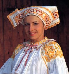 Hello all, Today I will talk about one of the most colorfully embroidered costumes of Slovakia, That of the village of Čičmany and v. Anglo Saxon History, Ethnic Outfits, Ethnic Clothes, Folk Clothing, Folk Embroidery, Folk Costume, Ethnic Fashion, Fashion History, Traditional Outfits