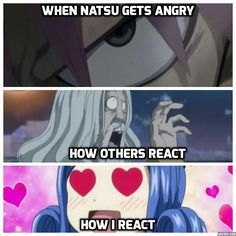 Natsu fangirls don't run away, they run towards him!!