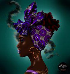 The light you are seeking has always been within ❣Universe Within❣ #kaizeea_artz #artillustration #mauritianartist #artist #headwrap #turban #africanwoman #africanprint #waxprint #africa #earrings #melaninpoppin