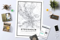 Map over Stockholm made by a user at Mapiful.com.