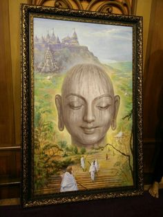 Painting of Bhagwan n Shtrunjay back drop sold for 11 lacs.goes to charity.