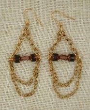 Vintage crystal chandelier earring by exvoto vintage jewelry.  #earring #chandelier #vintagecrystal