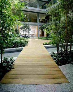 www.deparquet.es Landscape Architecture, Sidewalk, Deck, Stairs, Flooring, Outdoor Decor, Design, Home Decor, Outdoor Flooring