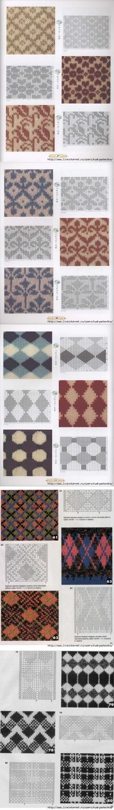 disegni jacquard You can knit one shade and purl the other shade Fair Isle Knitting Patterns, Fair Isle Pattern, Knitting Charts, Knitting Stiches, Knitting Designs, Knit Patterns, Hand Knitting, Easy Patterns, Knitting Tutorials