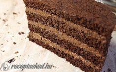Csokoládé torta főzött krémmel recept fotóval