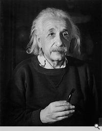 Albert Einstein, Physiker; New Jersey 1954. Trude Fleischmann; Copyright: ÖNB/Wien