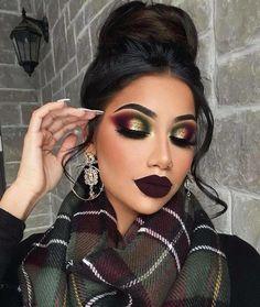 Sexy Eye Makeup, Creative Eye Makeup, Dramatic Eye Makeup, Colorful Eye Makeup, Skin Makeup, Fall Eye Makeup, Dramatic Eyes, Halloween Face Makeup, Glitter Makeup Looks