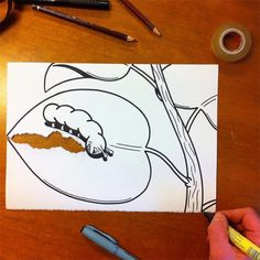 Smart Drawings! http://www.langweiledich.net/clever-gefaltene-zeichnungen/