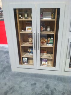 Pantry with glass doors