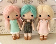 Cotton Candy Dolls pdf Pattern  Instant Download by Gingermelon, $15.00