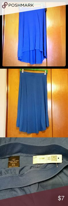 Blue Skirt Size Small, high low skirt Blue Skirt Size Small, high low skirt, Faded Glory, NWT Faded Glory Skirts High Low