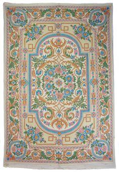280x185 cm orient handbestickte Kettenstich Kaschmir Teppich Wandbehang kelim N1