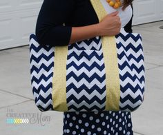The Jumbo Bag {sewing tutorial} - The Creative Mom