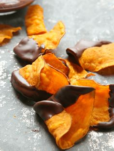 Dark Chocolate Covered Sweet Potato Chips