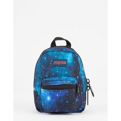 Jansport Galaxy Lil' Break Mini Backpack ($16) ❤ liked on Polyvore featuring bags, backpacks, zip bag, mini rucksack, polyester backpack, white backpack and galaxy rucksack