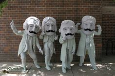 The #RushmoreMascots having a little fun for Mustache March! #visitrapidcity