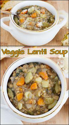 Veggie Lentil Soup   www.joyineveryseason.com