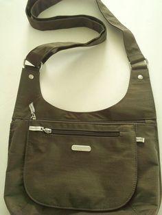 Baggallini - Army Green  - Cross-Body  Shoulder Bag - Excellent - Free USA Ship #baggallini #ShoulderBag