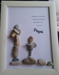 "Product name ""dreamteam"" pebble picture worked on glass frame .- Produktname ""dreamteam"" Kieselsteinbild auf Glasrahmen gearbeitet mit den Maßen… – DIY Ideen Product name dreamteam pebble picture on glass frame worked with the dimensions - Father Birthday Gifts, Cool Fathers Day Gifts, Diy Father's Day Gifts, Father's Day Diy, Fathers Day Crafts, Diy Christmas Gifts, Gifts For Family, Homemade Fathers Day Gifts, Christmas Christmas"