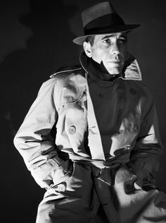 Humphrey Bogart and his famous trench coat.