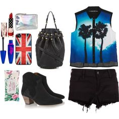 A fashion look from June 2013 featuring blue blouse, jean shorts and heeled ankle boots. Browse and shop related looks. Blue Blouse, Jean Shorts, Ankle Boots, Fashion Looks, Seasons, Polyvore, Shopping, Denim Shorts, Ankle Booties