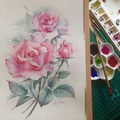 Watercolorist: @anna_bentele  #waterblog #акварель #aquarelle #painting #drawing #art #artist #artwork #painting #illustration #watercolor #aquarela
