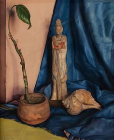 """The Tang Figure,"" Luigi Lucioni, 1939, oil on canvas, 17 ¼ x 14"", Godel & Co."