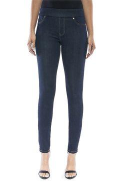 Main Image - Liverpool Jeans Company Sienna Mid Rise Soft Stretch Denim Leggings  (Indigo)