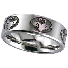 Hey, I found this really awesome Etsy listing at https://www.etsy.com/listing/270781303/claddagh-titanium-band-comfort-fit