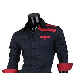 a camisa dos homens do algodão fino moda