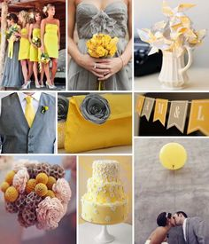 gray and yellow for my wedding <3